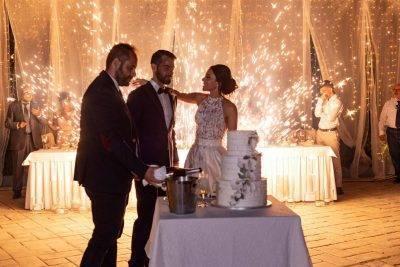 Πυροτέχνημα γάμου βεντάλια