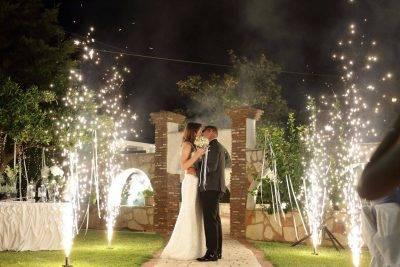 Επίγεια πυροτεχνήματα γάμου