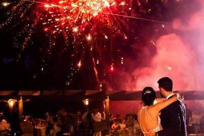 Εναέρια πυροτεχνήματα γάμου